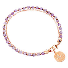 Buy Astley Clarke Biography Labyrinth 18ct Rose Gold Vermeil Amethyst Friendship Bracelet Online at johnlewis.com