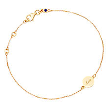Buy Astley Clarke Silhouettes Tiny Love Disc Friendship Bracelet Online at johnlewis.com