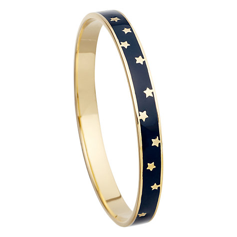 Buy Astley Clarke Colour Star Shower 18ct Gold Vermeil Enamel Bangle, Midnight Online at johnlewis.com