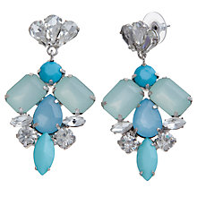 Buy COLLECTION by John Lewis Crystal Drop Earrings, Aqua / Silver Online at johnlewis.com