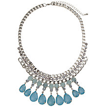Buy COLLECTION by John Lewis Jewelled Double Row Necklace, Aqua Online at johnlewis.com