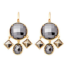 Buy Astley Clarke Colour Swing 18ct Gold Vermeil Chandelier Earrings, Hematite Online at johnlewis.com