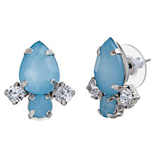 Buy COLLECTION by John Lewis Jewel Stud Earrings, Aqua Online at johnlewis.com