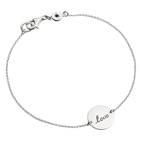 Buy Astley Clarke Silhouettes Love Disc Friendship Bracelet, Sterling Silver Online at johnlewis.com