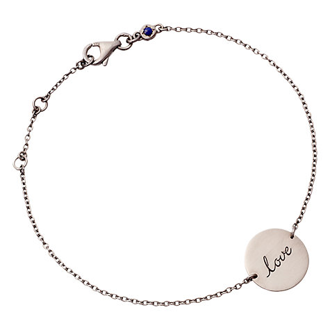 Buy Astley Clarke Silhouettes Love Disc Friendship Bracelet Online at johnlewis.com