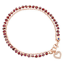 Buy Astley Clarke Biography Heart 18ct Rose Gold Vermeil Spinel Friendship Bracelet Online at johnlewis.com