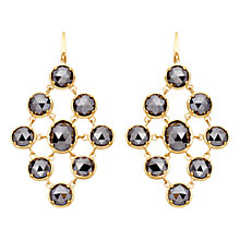 Buy Astley Clarke Colour Lydian 18ct Gold Vermeil Chandelier Earrings, Hematite Online at johnlewis.com