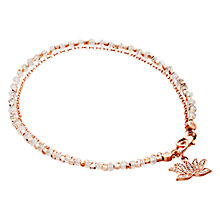 Buy Astley Clarke Biography Lotus 18ct Rose Gold Vermeil Moonstone Friendship Bracelet Online at johnlewis.com