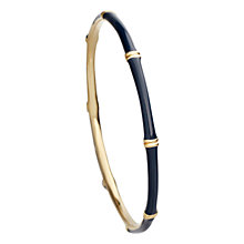 Buy Astley Clarke Colour Bamboo 18ct Gold Vermeil Bangle Online at johnlewis.com