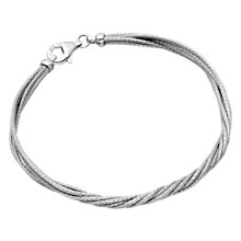 Buy Astley Clarke Woven Silver Twist Sterling Silver Rhodium Plated Bracelet Online at johnlewis.com