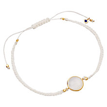 Buy Astley Clarke Colour 18ct Gold Vermeil Braided Friendship Bracelet Online at johnlewis.com
