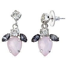 Buy COLLECTION by John Lewis Jewelled Drop Pink Earrings Online at johnlewis.com