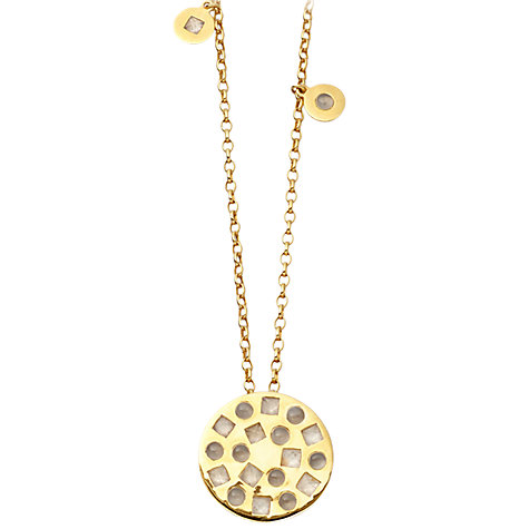 Buy Astley Clarke Colour Maxi Tempo 18ct Gold Vermeil Necklace, Moonstone / Labradorite Online at johnlewis.com