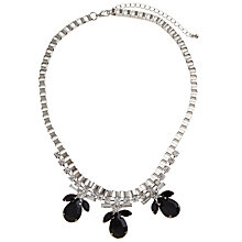 Buy COLLECTION by John Lewis Jewelled Fan Necklace, Black Online at johnlewis.com