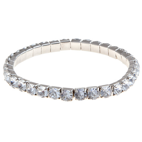 Buy COLLECTION by John Lewis Jewelled Small Stretch Bracelet, Clear Online at johnlewis.com