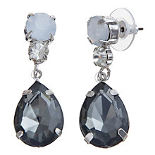 Buy COLLECTION by John Lewis Crystal Drop Earrings, Grey Online at johnlewis.com