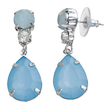 Buy COLLECTION by John Lewis Fan Jewel Drop Earrings, Aqua Online at johnlewis.com