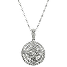 Buy EWA 18ct White Gold Multi Circle Diamond Pendant, 0.90ct Online at johnlewis.com