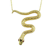 Buy London Road 9ct Yellow Gold Ruby Large Serpent Pendant Online at johnlewis.com