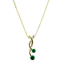 Buy EWA 9ct Gold Double Pendant Online at johnlewis.com