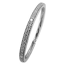 Buy EWA 18ct White Gold Half Eternity 0.12ct Diamond Ring, Size M Online at johnlewis.com