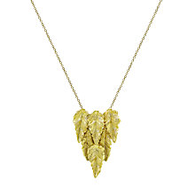 Buy London Road 9ct Yellow Gold Layered Leaf Necklace, Gold Online at johnlewis.com