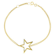 Buy London Road Starry Night 9ct Gold Open Frame Bracelet Online at johnlewis.com