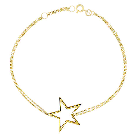 Buy London Road Starry Night 9ct Gold Open Frame Bracelet, Gold Online at johnlewis.com