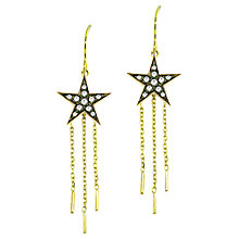 Buy London Road 9ct Gold Diamond Star Drop Earrings Online at johnlewis.com