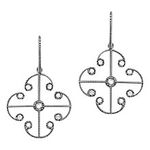 Buy London Road 9ct White Gold Diamond Lattice Earrings Online at johnlewis.com