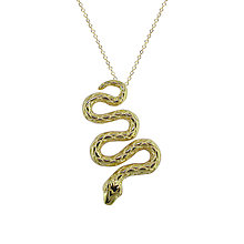 Buy London Road 9ct Yellow Gold Serpent Pendant Online at johnlewis.com