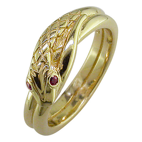 Buy London Road 9ct Yellow Gold Ruby Serpent Ring, N Online at johnlewis.com