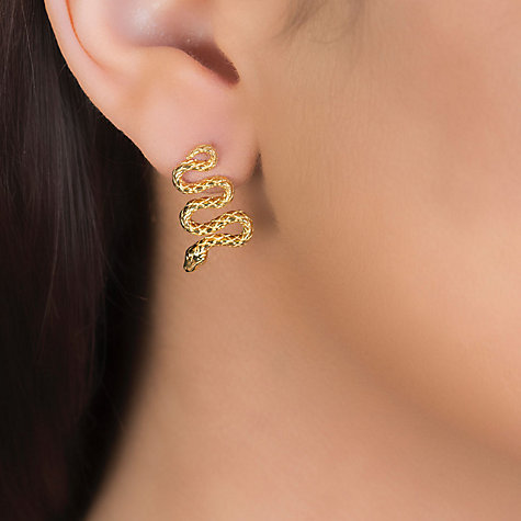 Buy London Road 9ct Yellow Gold Kew Serpent Drop Earrings Online at johnlewis.com