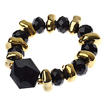 Buy Adele Marie Exclusive Faceted Resin Spacer Bead Stretch Bracelet, Black Online at johnlewis.com