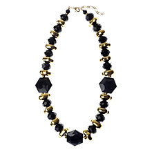Buy Adele Marie Exclusive Faceted Resin Spacer Bead Necklace, Black Online at johnlewis.com