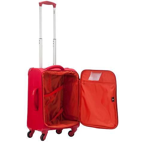 Buy Delsey U Lite 4-Wheel Cabin Suitcase, Red Online at johnlewis.com
