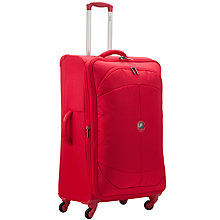 Buy Delsey U Lite 4-Wheel Expandable Large Suitcase, Red Online at johnlewis.com