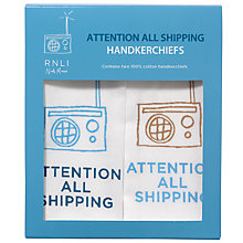 Buy Nick Munro RNLI Attention All Shipping Handkerchiefs, Pack of 2 Online at johnlewis.com