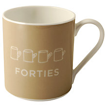 Buy Nick Munro RNLI Attention All Shipping Forties Mug Online at johnlewis.com