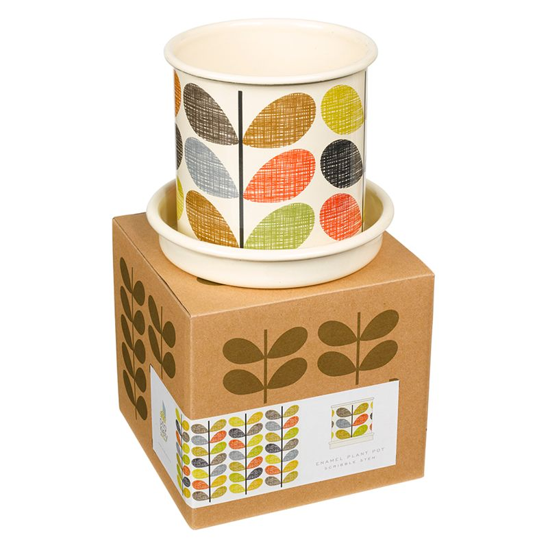 Orla Kiely Scribble Stem Plant Pot, Small