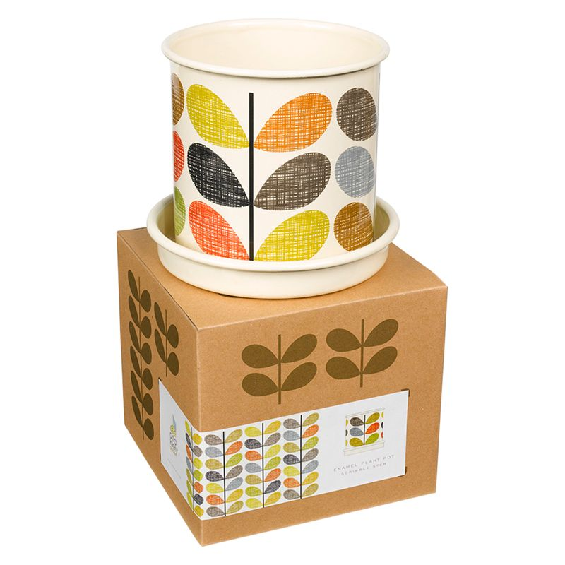 Orla Kiely Scribble Stem Plant Pot, Medium