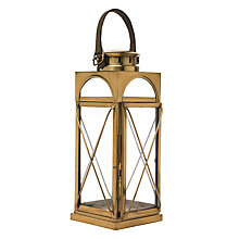 Buy Libra Antique Brass Lantern, Gold, Medium Online at johnlewis.com