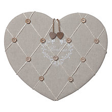 Buy Parlane Heart Notice Board, Cream Online at johnlewis.com