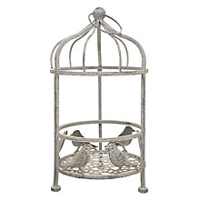 Buy Metal Bird Cage Planter, Small Online at johnlewis.com