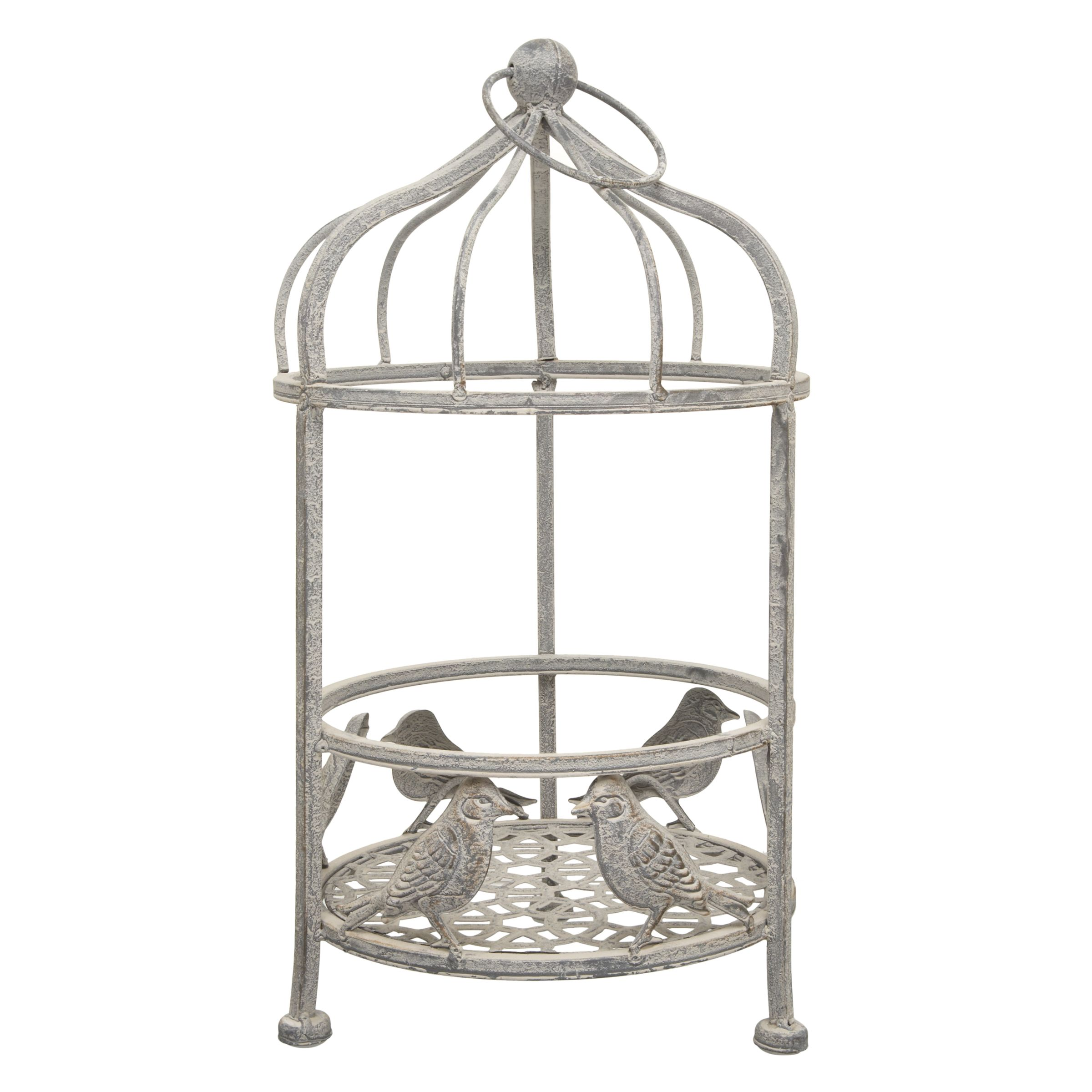 Metal Bird Cage Planter, Small