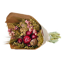 Buy Winterflora Dried Posy Bunch, Pink Online at johnlewis.com