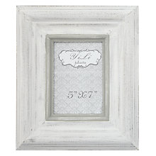 "Buy Whitewash Chunky Frame, White, 7x5"" Online at johnlewis.com"