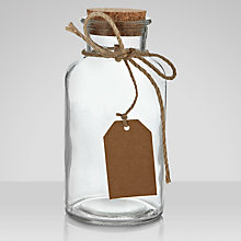 Buy Glass Jar With Cork Lid, Small Online at johnlewis.com