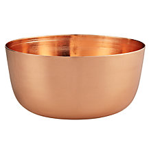 Buy John Lewis Bowl, Copper, H8cm x W15cm Online at johnlewis.com