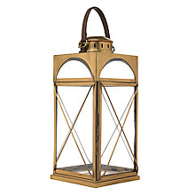 Buy Libra Antique Brass Lantern, Gold, Large Online at johnlewis.com